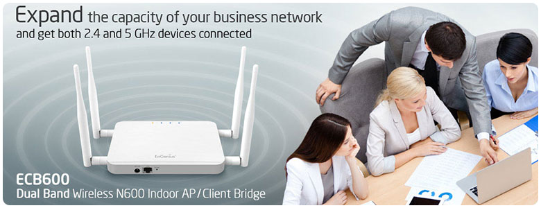 ECB600 Dual Band Wireless N600 Indoor AP/ Client Bridge